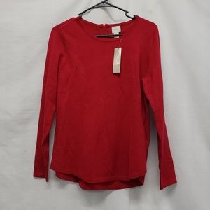 Chico's Zip Back Pullover Sweater